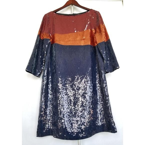 Tory Burch Dresses & Skirts - TORY BURCH Justine Sequins Colorblock Midi Dress